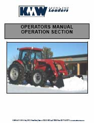 KMW 1660 & 1760 Operator Installation and Parts Manual