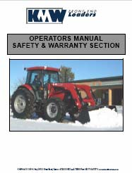 KMW 1750 Operator Installation & Parts Manual