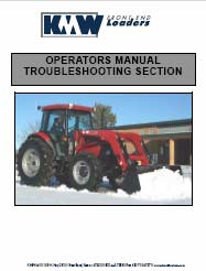KMW 1860 Operator Installation and Parts Manual